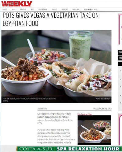 Las Vegas Weekly - POTs Gives Vegas A Vegetarian Take On Egyptian Food