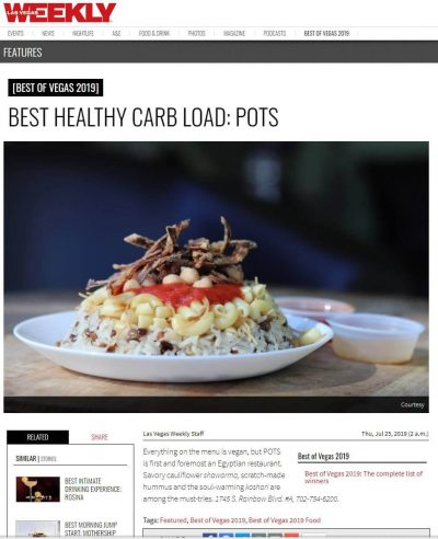 BEST HEALTHY CARB LOAD: POTS by Las Vegas Weekly Magazine