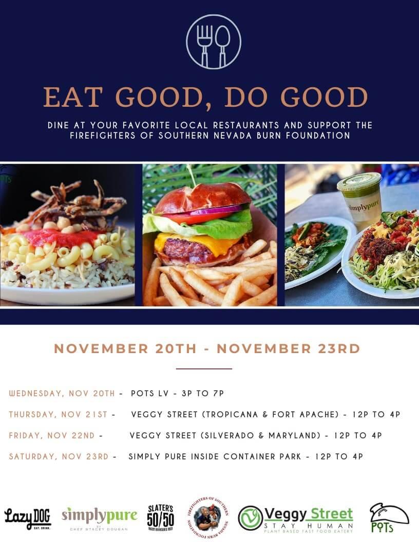 Eat Good, Do Good Event Flyer
