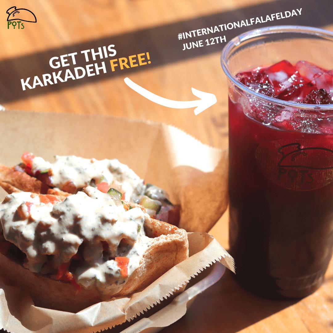 Get this Karkadeh Free - Falafel day 2020