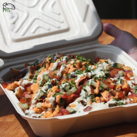 Loaded Fries with Beyond Meat