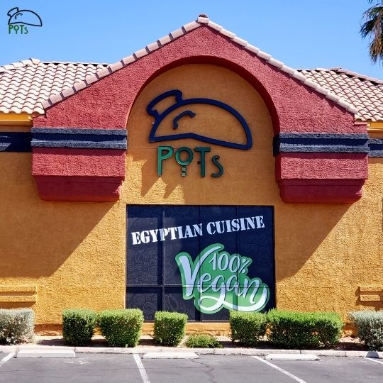 POTs Restaurant (Outside) - Egyptian Cuisine 100% Vegan