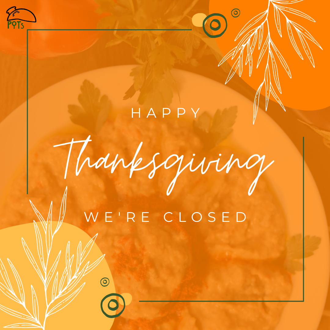 Happy Thanksgiving - We're closed