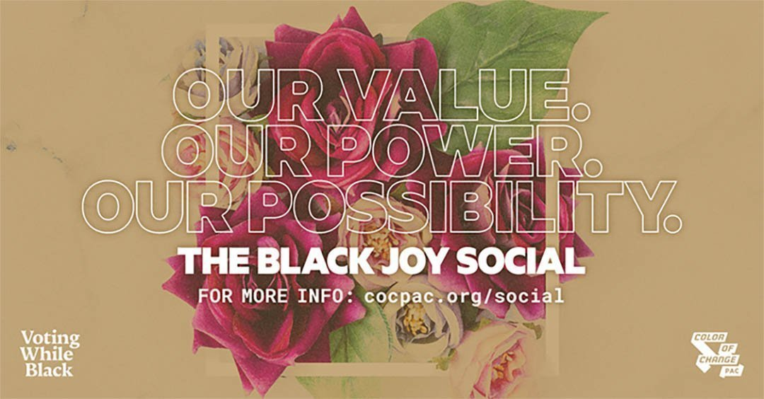 Black Joy Social @POTs Event Flyer