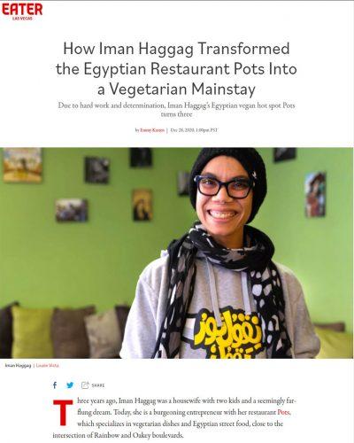 How Iman Haggag Transformed the Egyptian Restaurant Pots Into a Vegetarian Mainstay